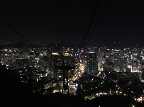 The view from the cable cart