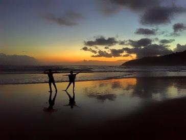 Breathtaking sunset at Wilderness Beach along the Garden Route