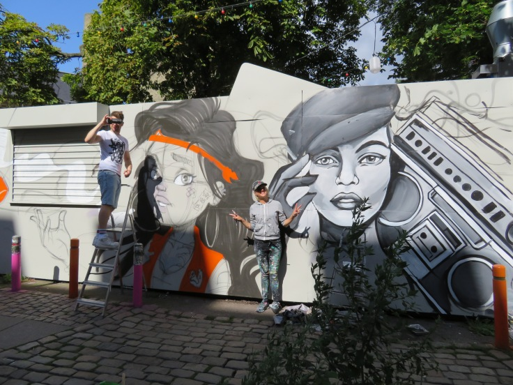 Graffiti artists in Copenhagen