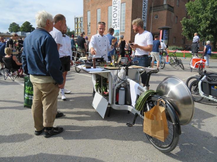 Bicycle chef in Copenhagen