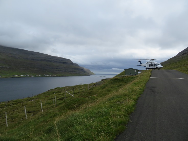 Helicopter rides in the Faroe Islands